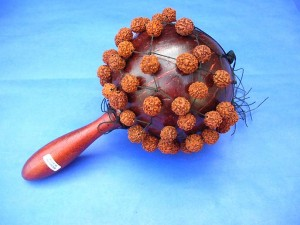jentere bead rattle maracas, hand carved Bali musical instrument