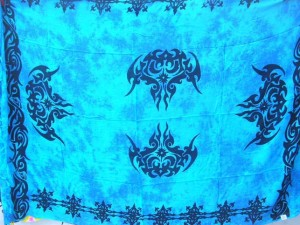 hippie clothing blue tattoo sarong wrap