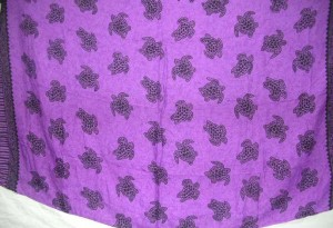 turtle sealife purple sarong