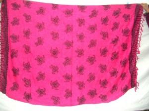 turtle sealife dark pink sarong