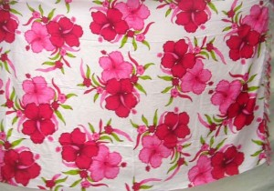 pink hibiscus flowers on white background