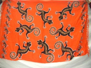 orange gecko sarong