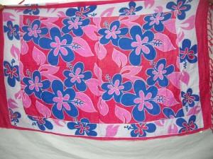 pink flower garden summer sarong