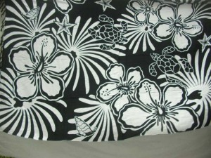 black and white tropical florals