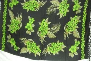 gree floral black sarong