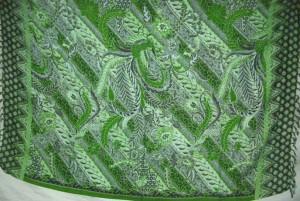 green batik sarong