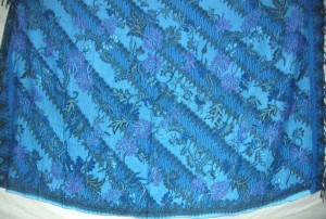 blue batik Indonesia sarong