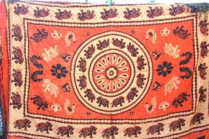 orange elephant sarong