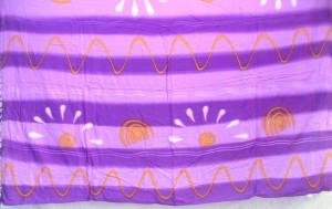Bali batik clothing sarong purple wave rows