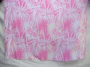 palm leave pink and white sarong