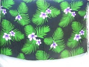 swimwear sarong green leaves