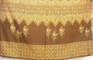 brown color thick sarong Bali traditions