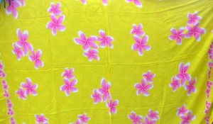 plumeria yellow fashion fabric rayon sarong