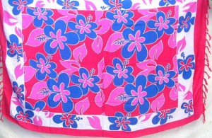 fashion clothing hawaiian aloha wrap pink blue flowers