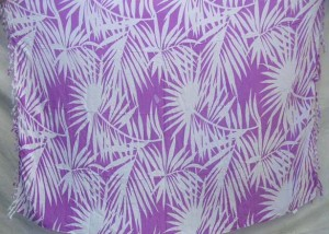 purple and white palm leaf sarong