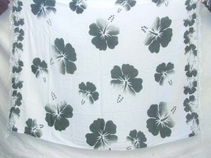 black and white hibiscus aloha clothing