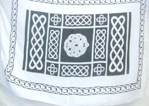 black and white celtic knotwork patterns sarong
