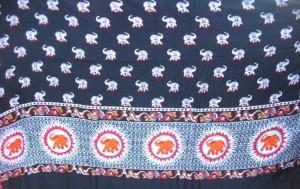 orange elephant black sarong