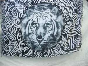 tiger and animal skin sarong