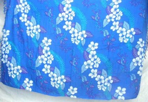blue hawaiian design sarong
