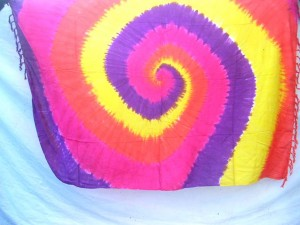 pink yellow purple red swirl tie dye pareo hip hop wear