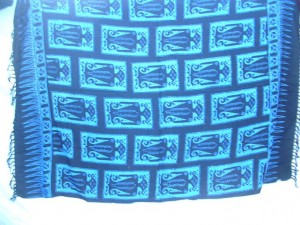 blue and black tribal primitive sarong