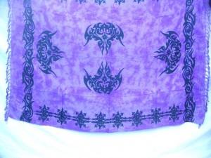Sarong wrap tattoo pattern purple