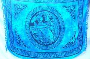 Dragon and Maiden blue fairy celtic sarong