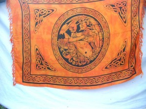 Dragon and Maiden orange fairy celtic sarong