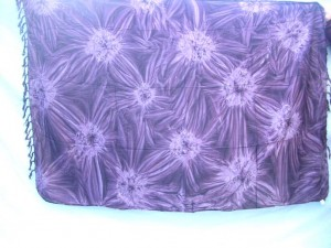 purple diamond burst tie dye sarong hippie wear