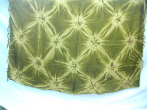 green diamond burst tie dye sarong hippie wear