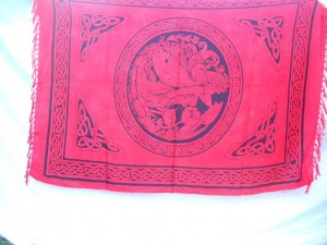Dragon and Maiden red fairy celtic sarong