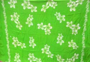 plumeria flower green sarong