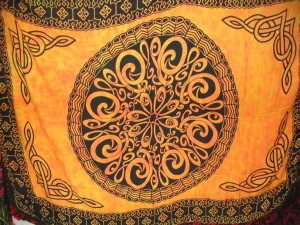 alter cloth celtic orange sarong wrap