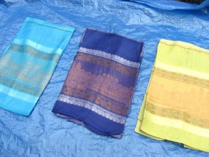 polyester scarf half see through with luckly Indian palaces design, silky touch