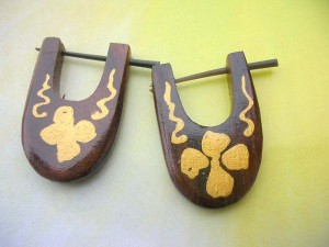 Organic Tribal Earring With Stick