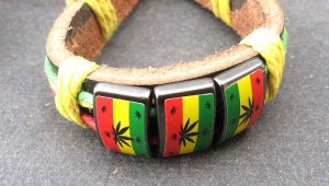 rasta jewelry adjustable size leather bracelet rasta designs