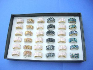 open adjustable seed beads wired rings