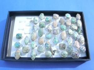 paua shell fashion rings