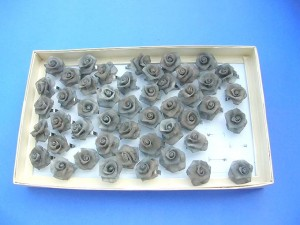 handmade grey rose rings adjustable size, one design