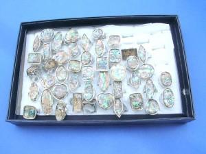 paua shell rings