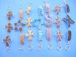 seedbead on wire toggle fashionn bracelets
