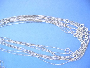 silver plated chain necklace assorted