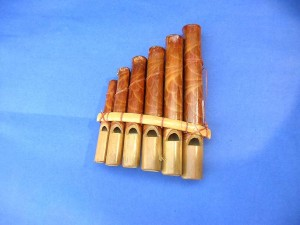 small pan flute zampona or pan pipe