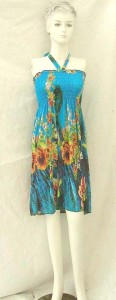 Bohemian style women's sundress, tube dress, coverup