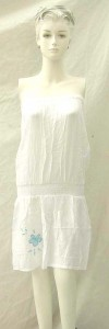 Bali rayon strapless dress. Made in Indonesia. Can be used as sundress or skirt