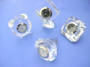 tabletop clock clear shinning arcrylic