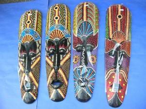 Bali tribal mask thousand dots