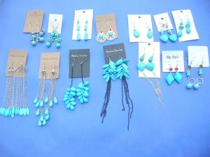 Assorted turuqoise gemstone fashion earrings