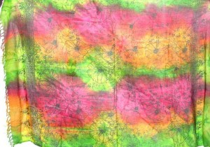 flower print tie dye sarong